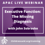 Executive Function: The Missing Diagnosis