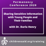 Sharing Sensitive Information with Young People and Their Families